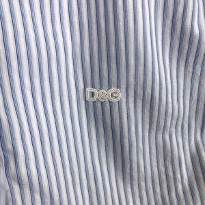 Dolce & Gabbana Tops - $795 Dolce & Gabbana Blue Long Sleeve Dress Shirt